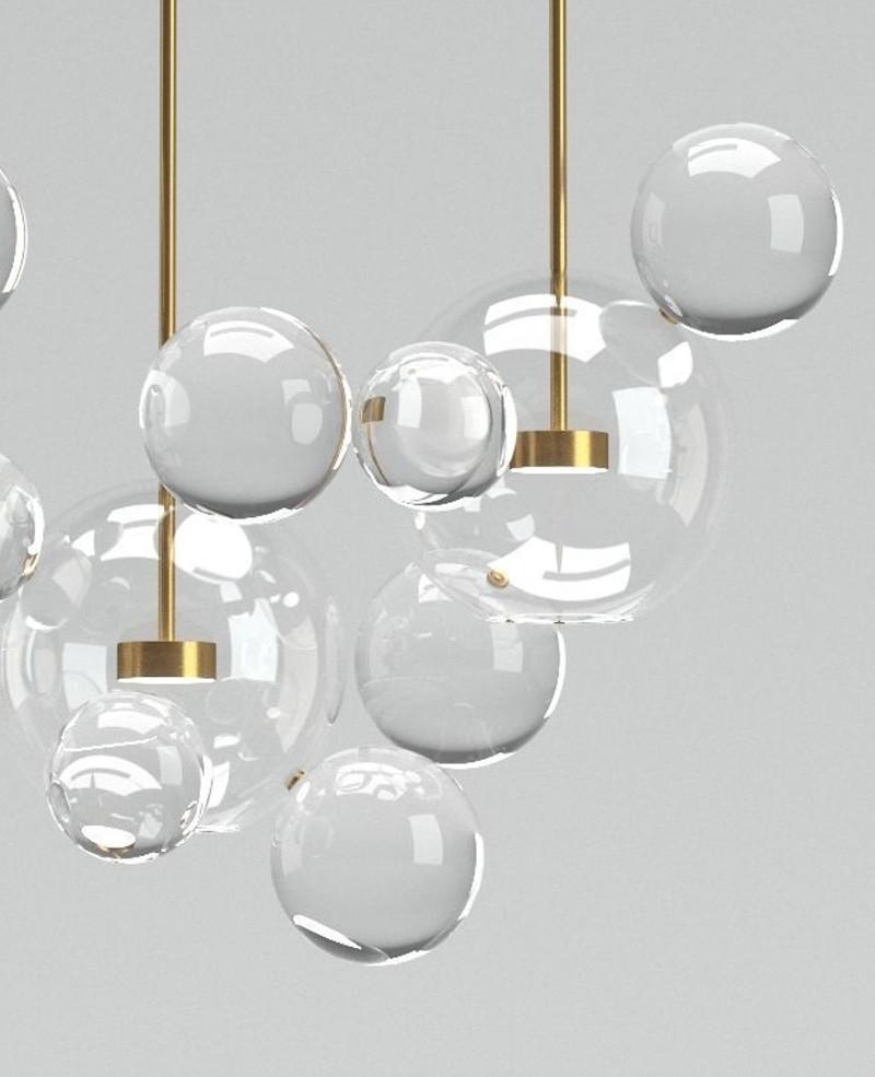 Lampa Szklane Kule 3 Kebe Meble Nowoczesne Rozwiązania